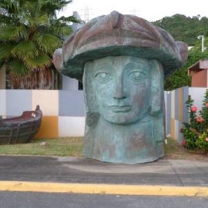 Монтаж скульптурной композиции, посвященной Христофору Колумбу, работы З.К.Церетели в Пуэрто-Рико