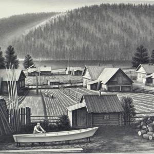 В.В.Дранишников (1936-2019). Вишера. Деревня Заговоруха