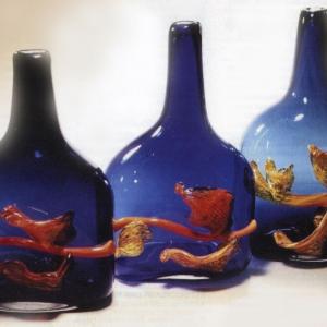 А.Я.Степанова (1927-20019). Калина красная.  Цветное стекло.