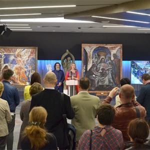 «Семья и искусство — искусство семьи». Выставка Н.Опиок и А.Парфенова в посольстве Республики Беларусь (Москва).