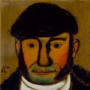 И.Л.Лубенников. Маленький мужчина. 2008. холст, масло. 30х30.Мастерская художника.