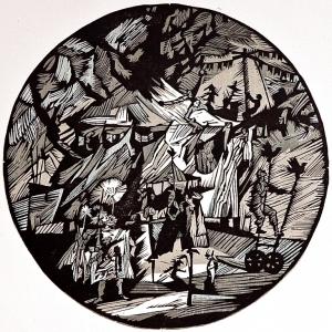 Выставка к 30-летию творческих мастерских скульптуры и графики РАХ в Красноярске.
