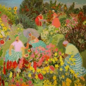 И.Н. Лотова. Прогулка в саду. 1998