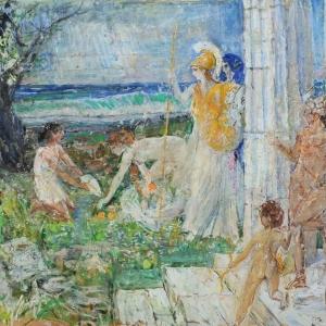 Выставка «Страна и мир Аркадия Пластова» в Академии акварели С.Андрияки
