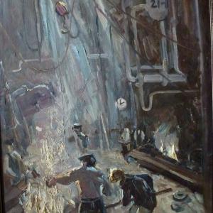 Гансовская И. Плавка х.м. 1973г. 6к.