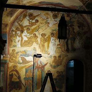 История Адама и Евы. Росписи северной стены западной галереи.1640 г. Любим Агеев со товарищи