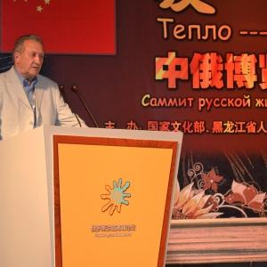 Вице-президент РАХ О.А.Кошкин на церемонии открытия..