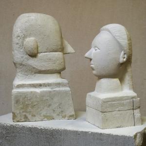 А.Комелин. Парный портрет. 2010. Камень