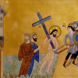 З.К.Церетели. Несение Креста. Перегродчатая эмаль