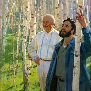 Самсонов. Хрущев и Кастро в березовой роще