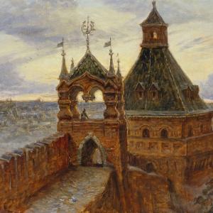 И.Г.Машков. Царская башня Московского Кремля. 2002. холст, масло 60,5х74,5см