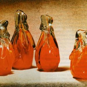 А.Я.Степанова (1927-20019). Начало лета.1988. Цветное стекло.Гутная техника.
