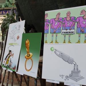 Международная выставка «Футбол глазами художников-графиков России, Франции и других стран» в МВК РАХ