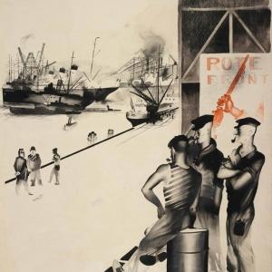 Выставка «Юрий Пименов» в Новой Третьяковке. Гамбург. 1928.