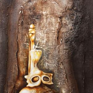 А.И. Майоров. Каприччо серебряной ночи. Смешанная техника. 2010