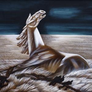 Выставка произведений Джанны Тутунджан в Вологде. Вольному – воля. 1996. Холст, масло, темпера.