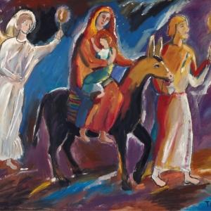 Т.И. Рыжова. Бегство в Египет. Холст,масло. 100х120. 2005