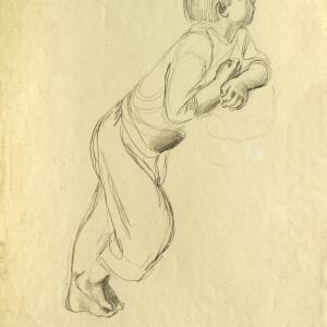 А.Ф. Пахомов. Мальчик. 1928-30. Бумага, карандаш