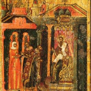 Василий Великий с житием. Клеймо 18