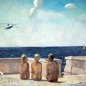 Александр Дейнека. Будущие летчики. 1938. Холст, масло.