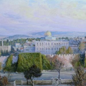 И.Г.Машков. Вид Святого Града Иерусалима. (2004 г.) холст,масло 70х200см