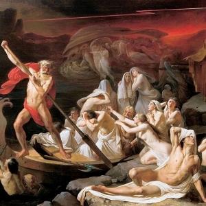 Академическая программа. 19 в. Харон перевозит души умерших через реку Стикс. НИМРАХ