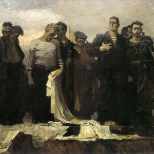 А.А.Мыльников. «Клятва балтийцев». 1946.