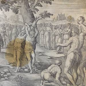 Библия Пискатора. Казнь старцев за ложное обвинение праведной Сусанны