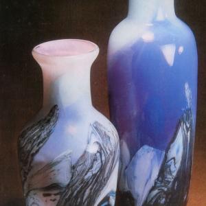 А.Я.Степанова (1927-20019). Сиреневый туман. 1996. Цветное стекло.Гутная техника.