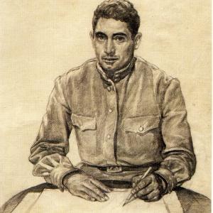 Владимир Переяславец. Автопортрет. 1944. Бумага, карандаш