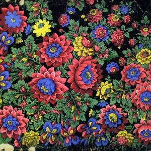 Постигов Н.С. Платочный рисунок (крок) 1920-1930-е гг. Собрание «Павловопосадской платочной мануфактуры».
