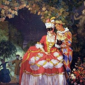К.А.Сомов (1869–1939). Арлекин и дама . 1921. ГРМ.