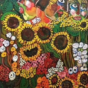 «Цветы в театре».  Выставка произведений Зураба Церетели в «Геликон-Опере».