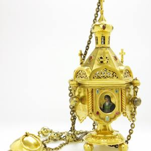 Кадило. Дар купца Ф.И.Тюменева Валаамскому монастырю. 1865 г.