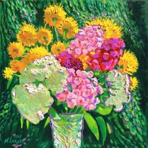 «Живописная поэма: лето в цветах, женщины в цветах». Выставка Н.Ларского в Мытищах.