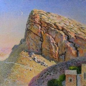 А.П.Рыбкин.Вечные горы Сирии. 2007 г. Х.м.100х104.