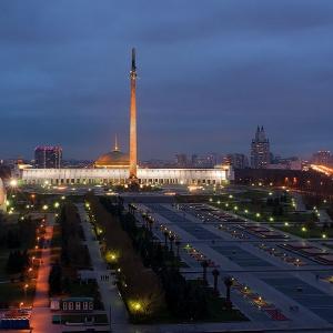Мемориальный комплекс на Поклонной горе. Москва, 1995. Общий вид