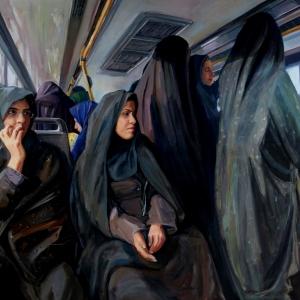 П.В. Илюшкина. Женская половина в иранском городском автобусе. 2016