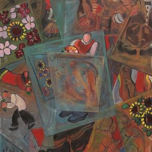 "З.К.Церетели. ""Танцующие картины"". 2010. Холст, масло.152х122"