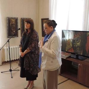2017. Выставка произведений А.Тихомирова в Барнауле