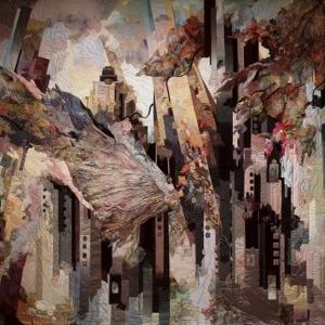 Н.В. Мурадова. Текстильное панно «Ужас и восторг великого города» Авторская техника. 5х4м. 2010