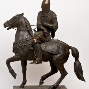 Петр Карлович Клодт. Русский воин в шишаке и кольчуге. 1851.