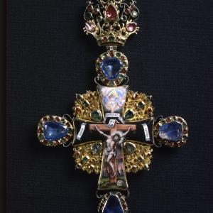 Крест наперсный. 1747-1764 гг. Троице-Сергиева лавра
