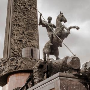 З.К.Церетели (совместно с арх. Л. Вавакиным, В.Будаевым). Монумент Победы на площади Победителей в Парке Победы на Поклонной горе. 1994-1995