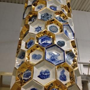 Алим Пашт-Хан. Фрагмент     вазы.  2015.   На заводе в Рейхенбахе