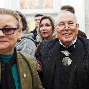 На заседании Президиума РАХ 15 января 2019 года. Чествование З.К.Церетели.