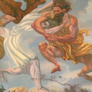 М.М.Верхоланцев. Борьба Иакова с ангелом. Холст, акрил