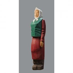 В.В.Тишин.(1963-2015).Бабка. 1990. Дерево тон. 130х30х37